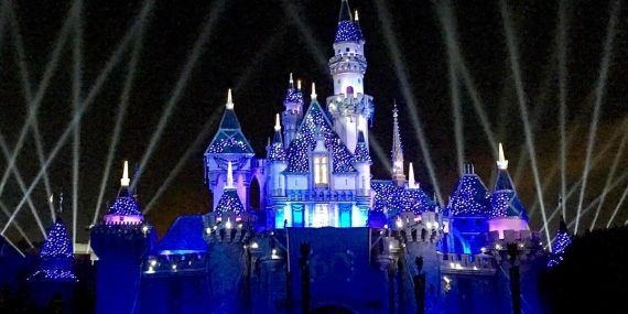 The view of the front of Sleeping Beauty's Castle